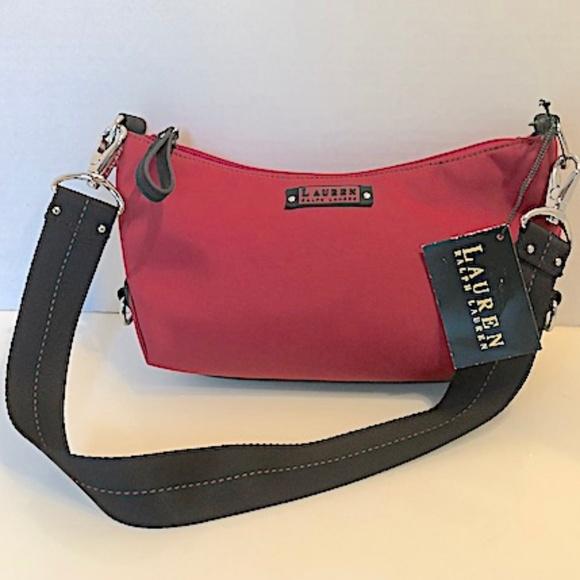 Ralph Lauren Bags   Nwt Red Nylon Shoulder Bag   Poshmark 5cb2dc8056
